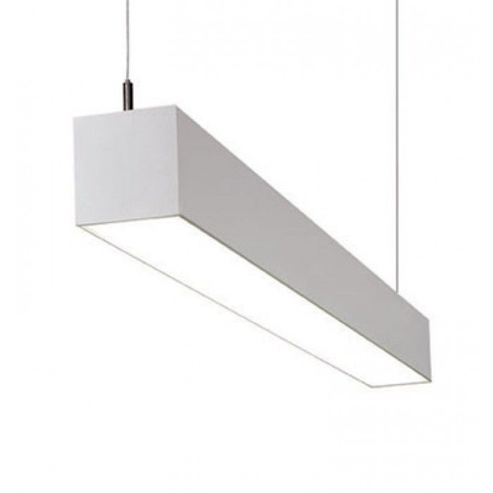 Suspended Fluorescent Lighting Conference Room