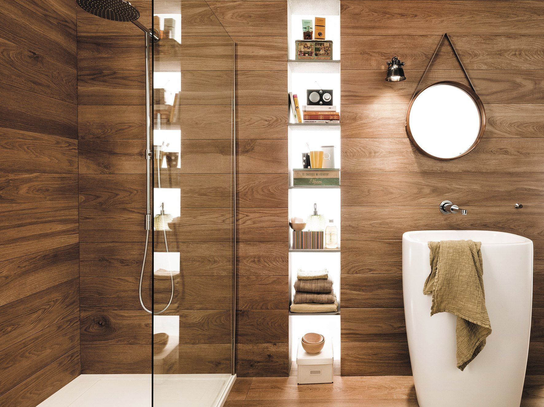 Allways cabin contemporary bathroom perth by ceramo tiles - Mirage Signature Havana Timber Look Tile Available At Ceramo