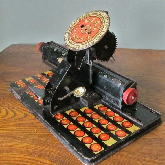 Rustic Vintage Marx Dial typewriter