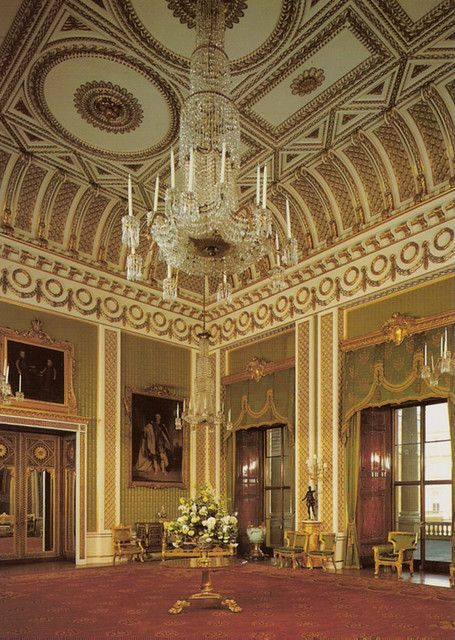 The Green Drawing Room Buckingham Palace London Uk