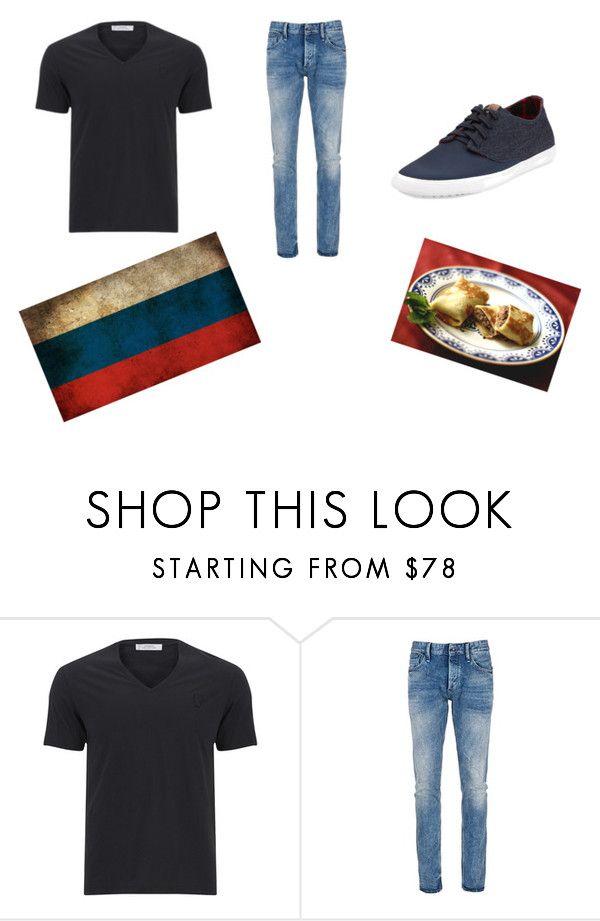 """Russia #24"" by kreepykitten on Polyvore featuring Versace, Denham, Ben Sherman, men's fashion and menswear"