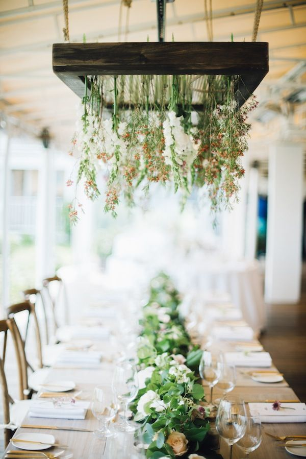 White Elephant Nantucket Coastal Beach New England Wedding Hanging Flowers Fl Install Head Table Lauren