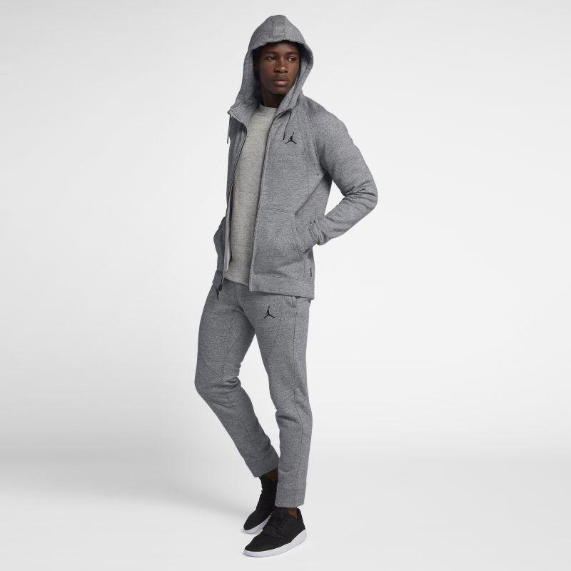 124d4d680ca6d6 Jordan Lifestyle Wings Fleece Men s Full-Zip Hoodie - Grey ...