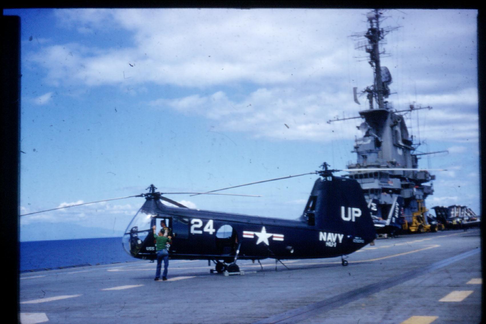 USS Essex CVA-9  in 1955