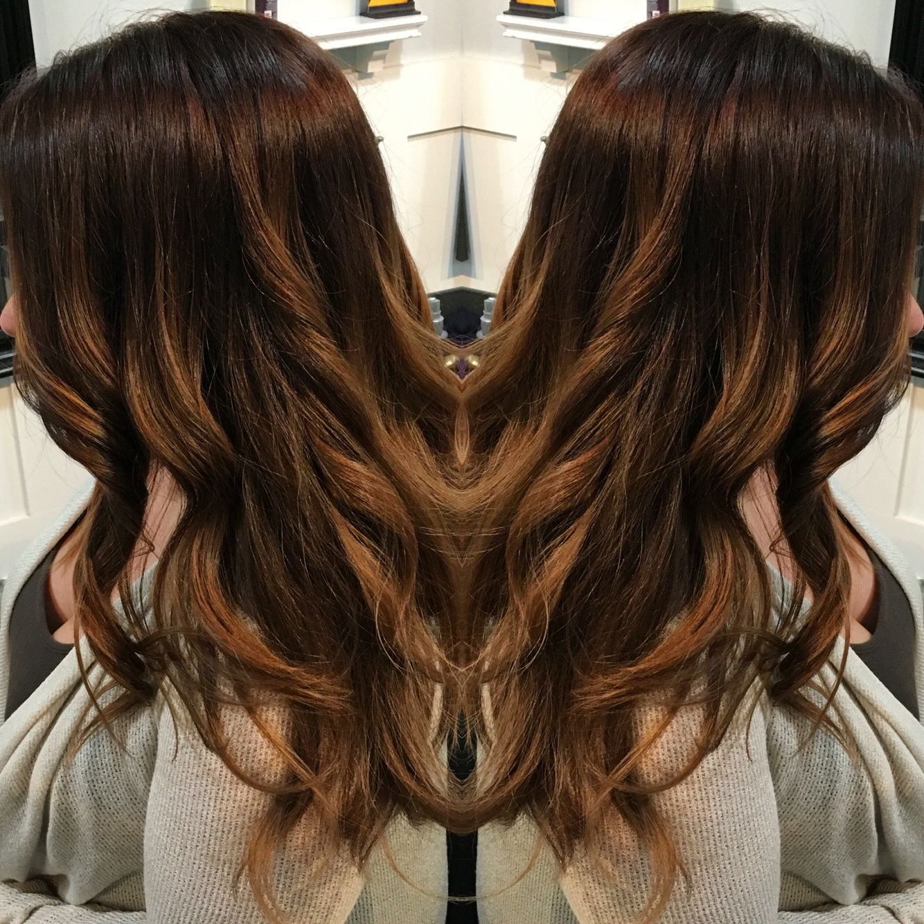 Rich Hair Color And Balayage Highlights Done By Shannon At The