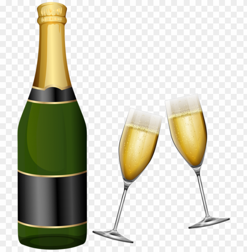 New Year Champagne And Glasses Png Image With Transparent Background Png Free Png Images Champagne Transparent Background Happy New Year Png