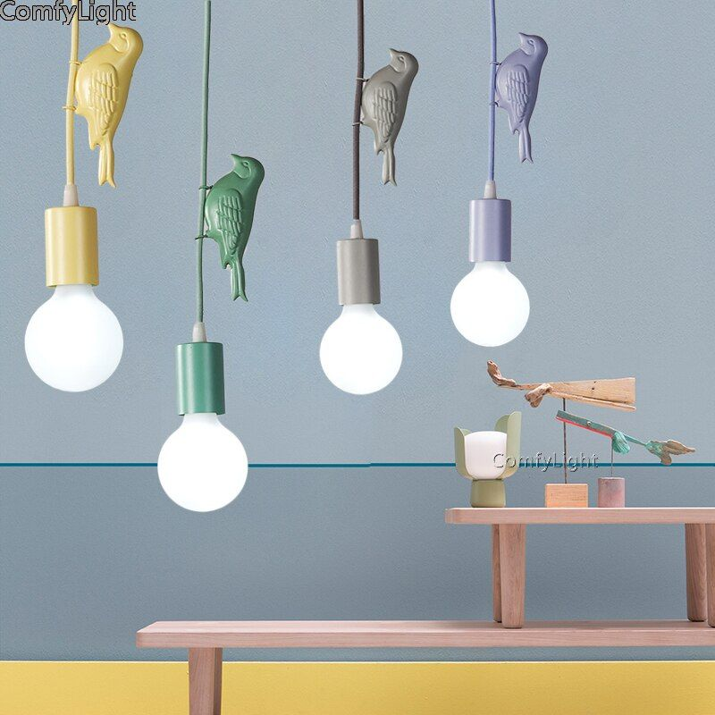 Goedkope Moderne Hanglampen Keuken Woonkamer Vogels Iron Led Loft