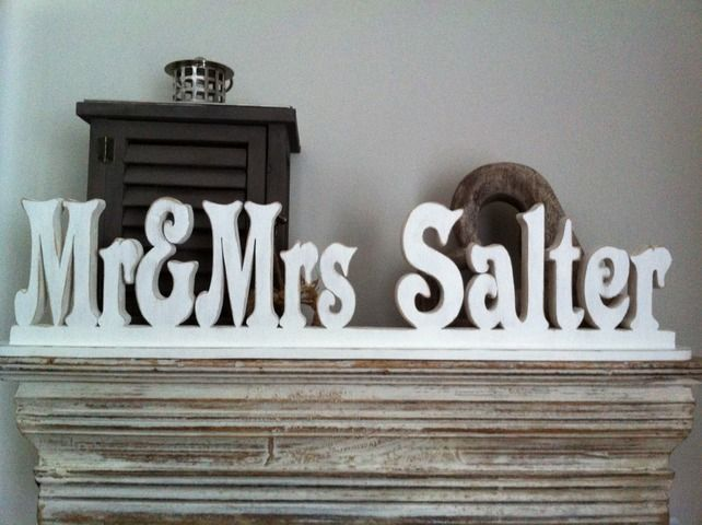 Freestanding Wedding Letters-Personalised - Mr & Mrs- Photo Props, Wedding Table £3.00