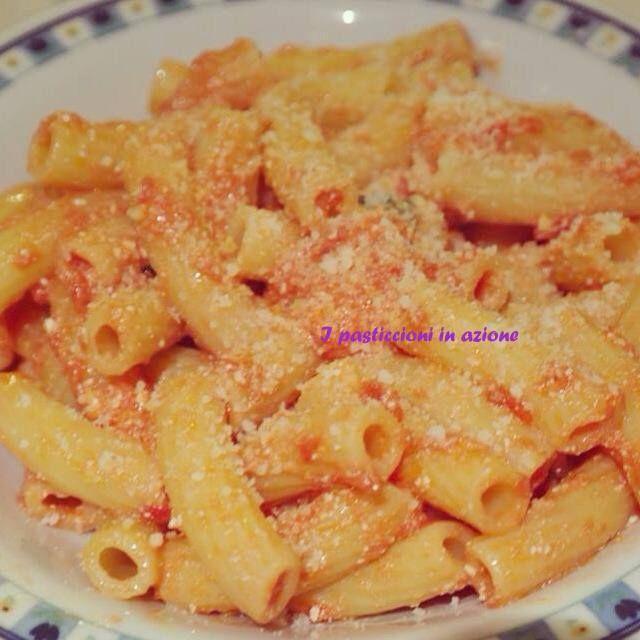 #Rigatoni #pomodoro e #ricotta fresca #ipasticcioniinazione
