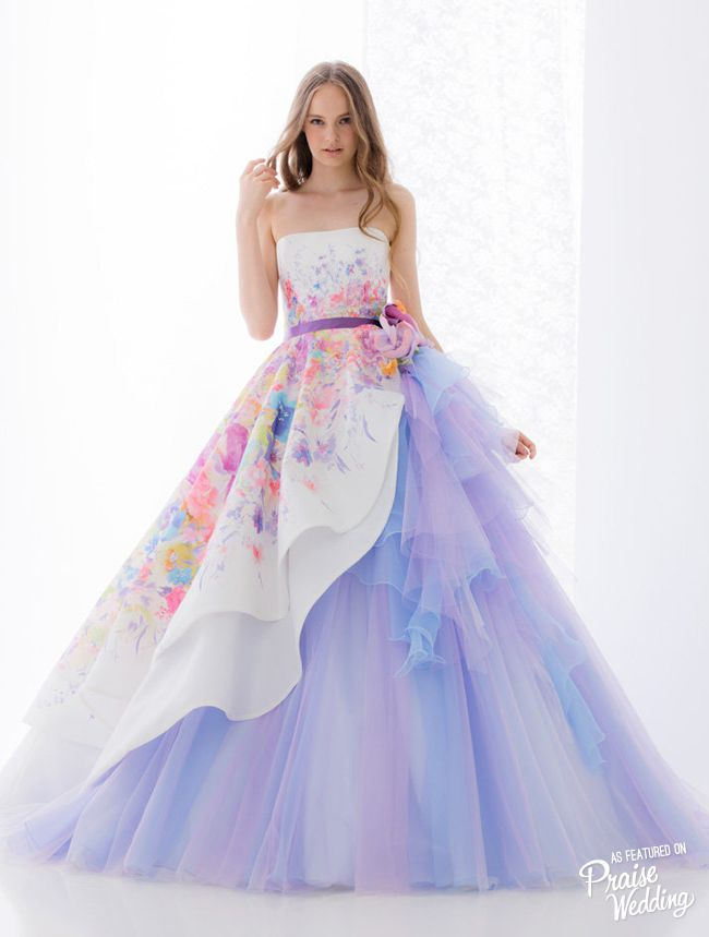This Hardy Amies London Bridal Gown Featuring Watercolor Floral