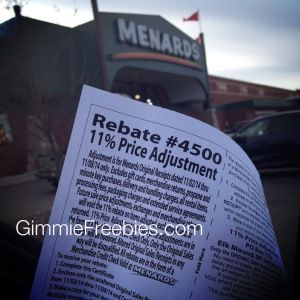 Menard's Secret 11% Rebate - Price Adjustment Before Rebate Week ...