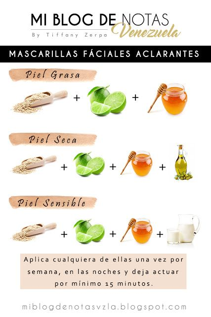 Mascarillas Faciales Aclarantes Para Pieles Grasas Secas O Sensibles Health And Beauty Tips Natural Face Scrub Skin Care