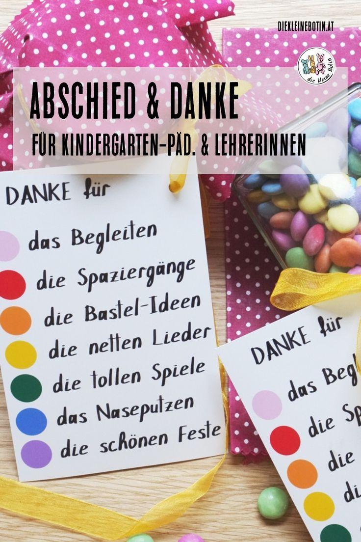 Kindergarten Abschied - wir sagen DANKE #abschiedsgeschenkerzieherin