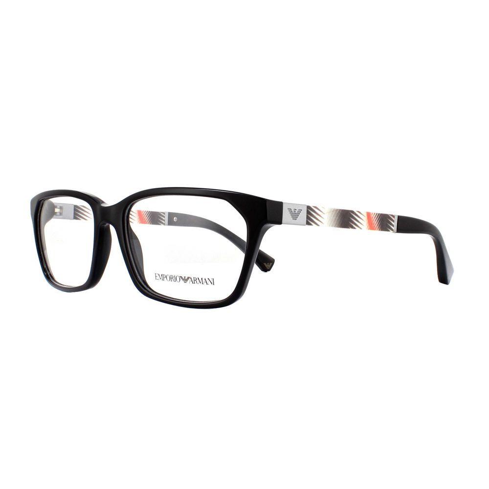 647d9fd0b58 Emporio Armani Glasses Frames EA 3095 5017 Black 53mm Mens