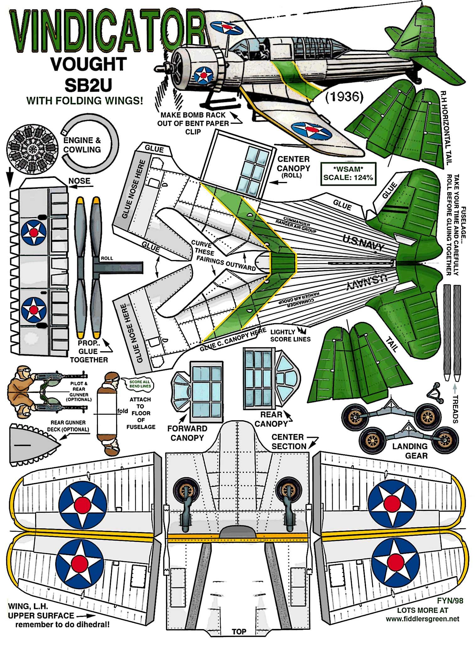 airplane paper model templates