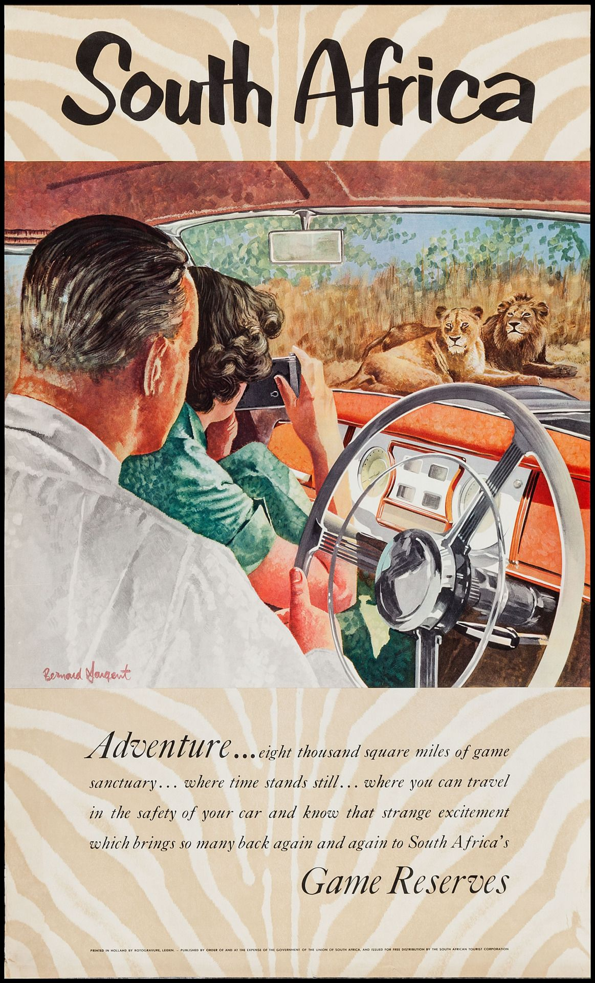 """vntgtravel """" South Africa Travel Poster (South Africa"""