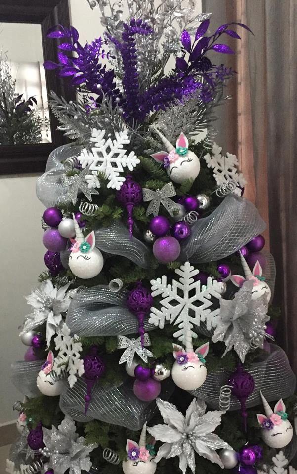 Decoracion arboles de navidad unicornios decoracion de - Decoracion arboles navidenos ...