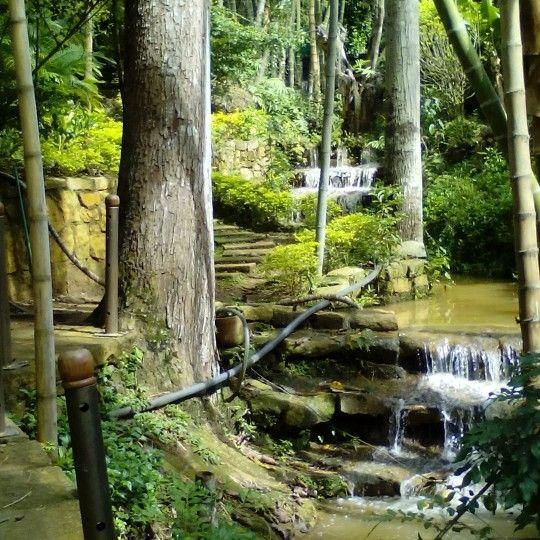 Espejos de agua de Barichara Parque Hostal.