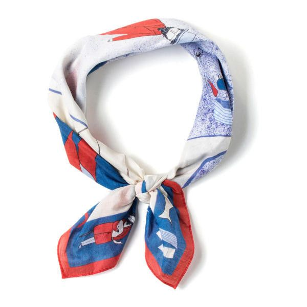 Rumisu Moby Dick Cotton Bandana Neckerchief ($75) ❤ liked on Polyvore