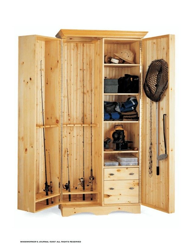 Angler's Cabinet | free boat plans | Pinterest | Fish, Fly ...