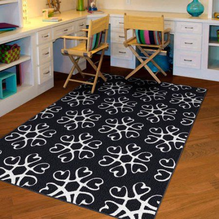 NXT-GEN Hearts Medallion Olefin Area Rug, White (With ...