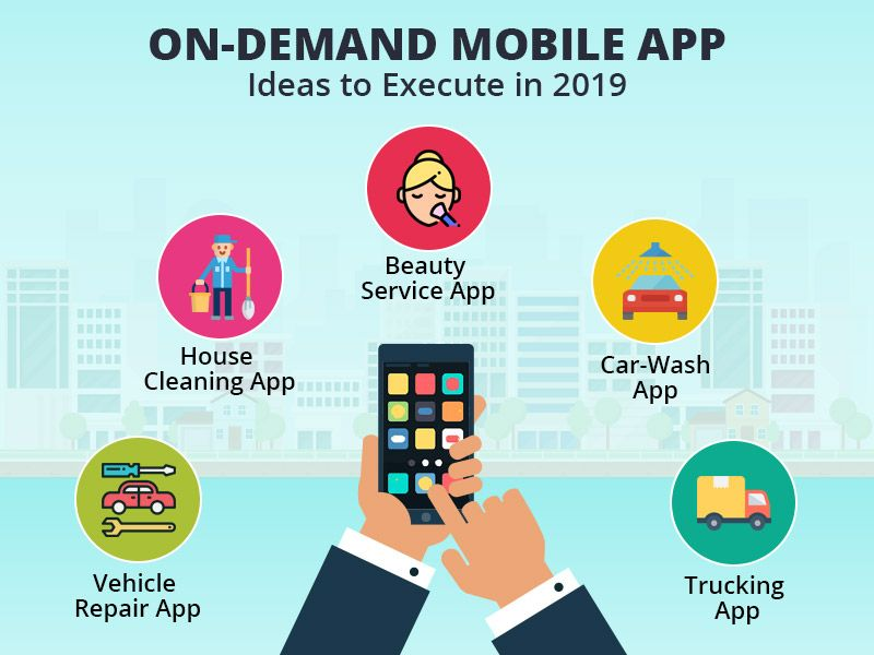 5 Best On Demand Mobile App Ideas To Execute In 2019 Mobile App
