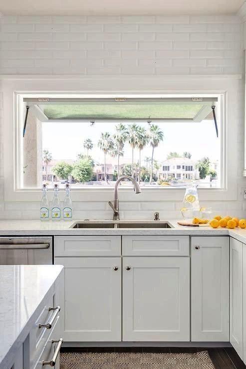 Photo of #kitchenrugssinkdarkcabinets #amonochromatic #monochromatic #backsplash