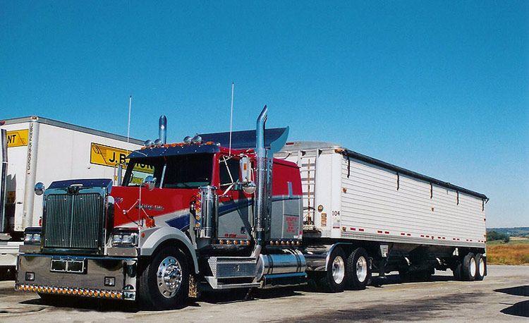 Kenworth w900 grain hauler western star trucks kenworth