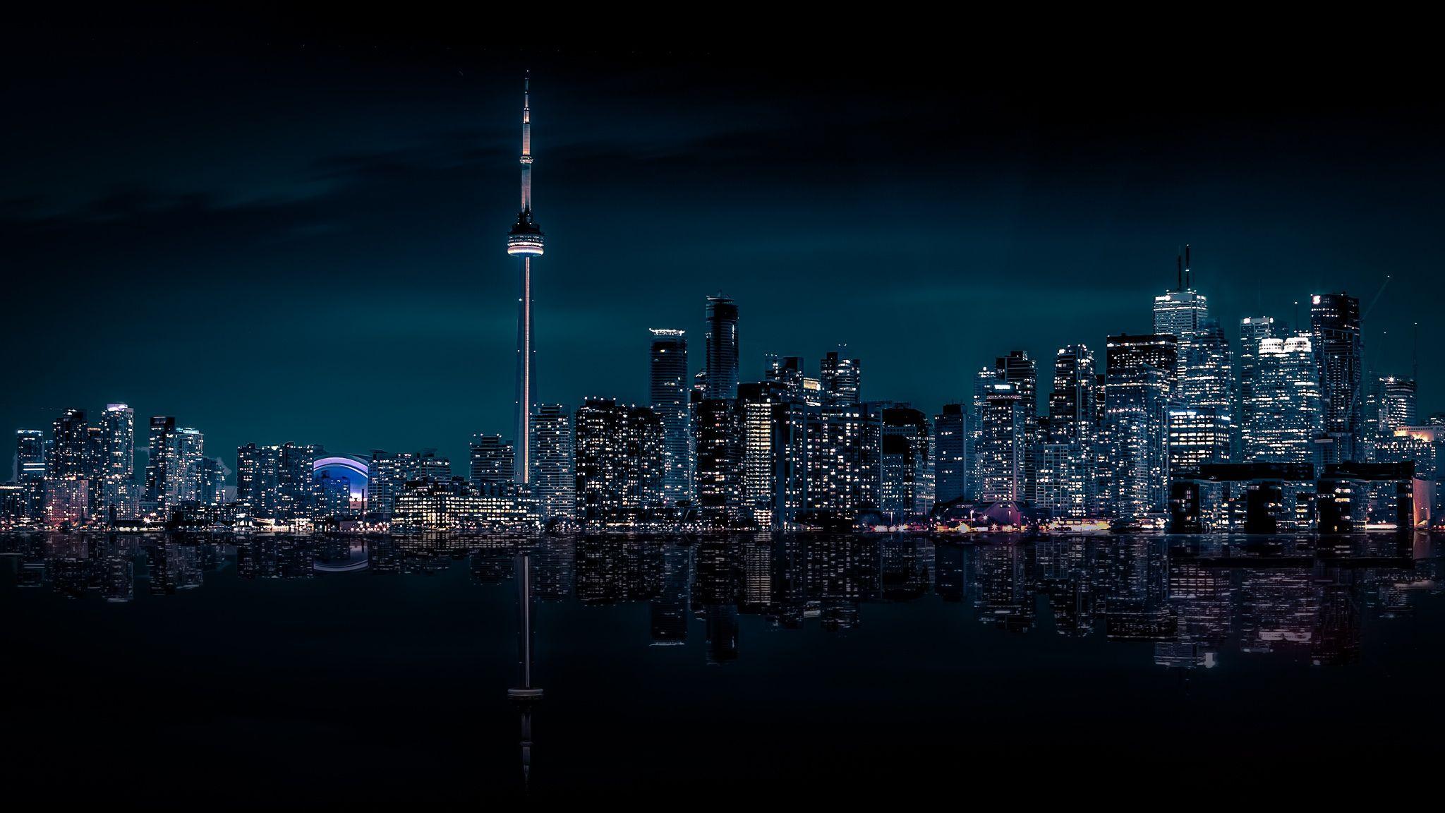 Toronto At Night Wallpaper Toronto Toronto Island Toronto City