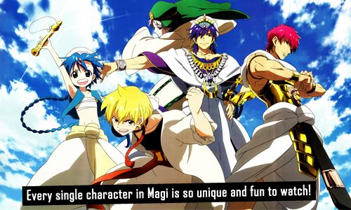 Magi: The Labrynth of Magic is one of the most unique shonen series I've ever watched. Super excited the manga will be licensed in the U.S. in August :) Can't wait to read it. Otaku Confessions