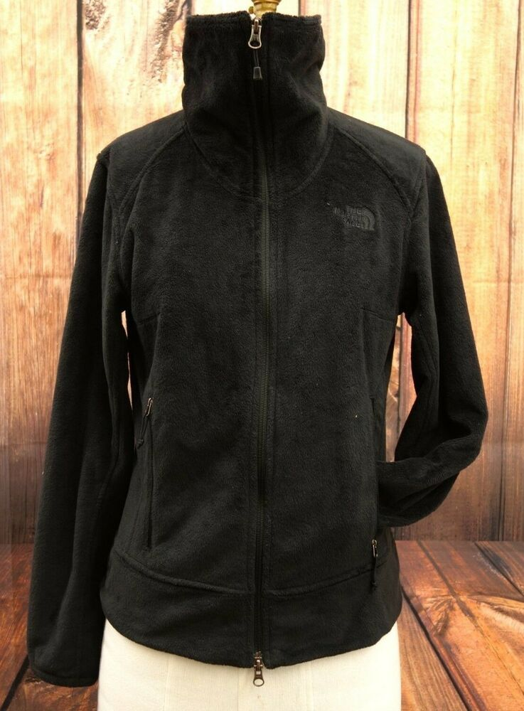 8b667cc82 The North Face Womens Black Fuzzy Warm Fleece Sweater Zip Jacket ...