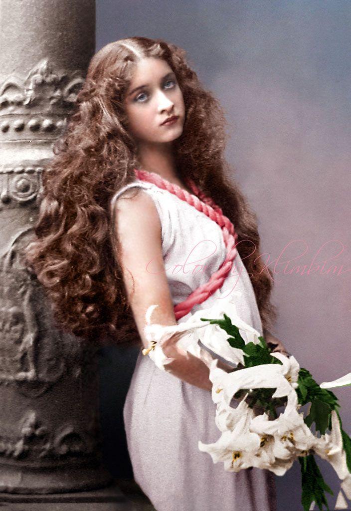 Gorgeous Maude Fealy, colourised by klimbims.deviantart.com on @deviantART