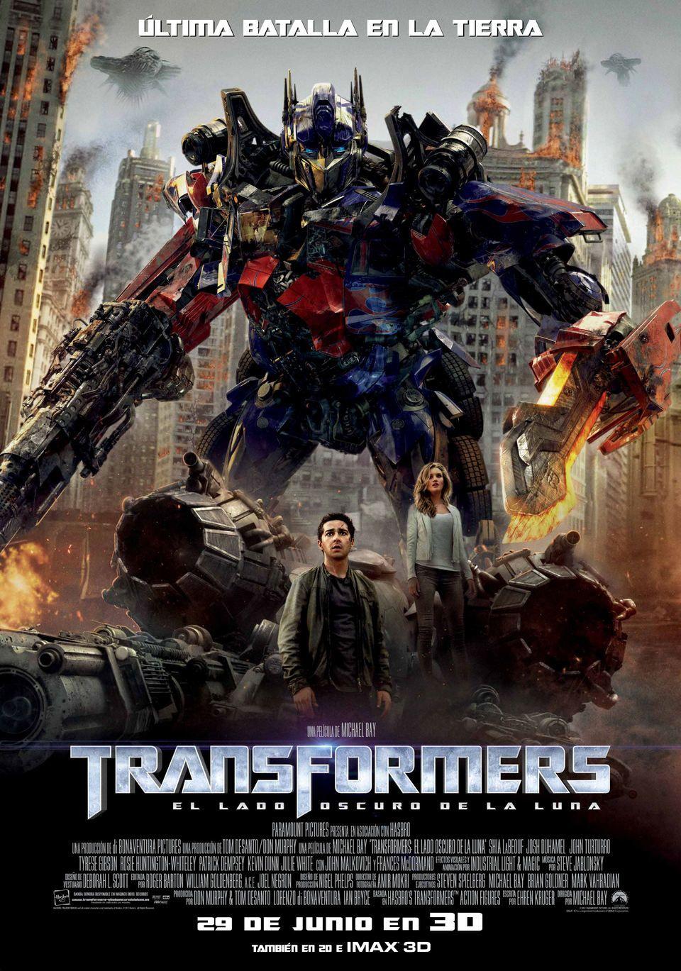 2011 07 03 Transformers 3 El Lado Oscuro De La Luna El Lado Oscuro De La Luna Transformers Películas En Línea Gratis