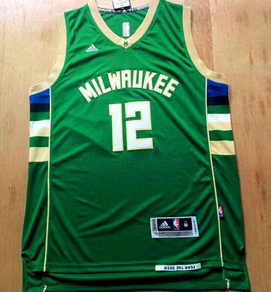 d81d79ef559 Jabari Parker NWT Milwaukee Bucks #12 green Jersey size S M L XL XXL # MilwaukeeBucks