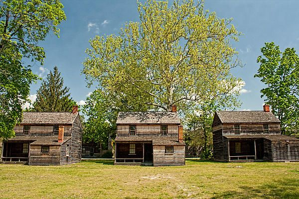 Batsto Village - © Kristia Adams -These workers' cottages are located at historic Batsto Village with in the Wharton State Park in Burlington County, NJ. These cottages lined the main street at Batsto and house workers that worked at the Batsto Village. An ironworks was located here which manufactured supplies for the Continental Army during the Revolutionary War.