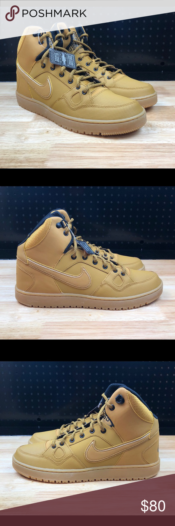 3dd5ef384ca0 Nike Men s Son of Force Mid Winter Basketball New NIKE Men s Son of Force  Mid Winter Basketball Shoes - Brown Wheat - Men s Size 10 - New Without Box  - FAST ...