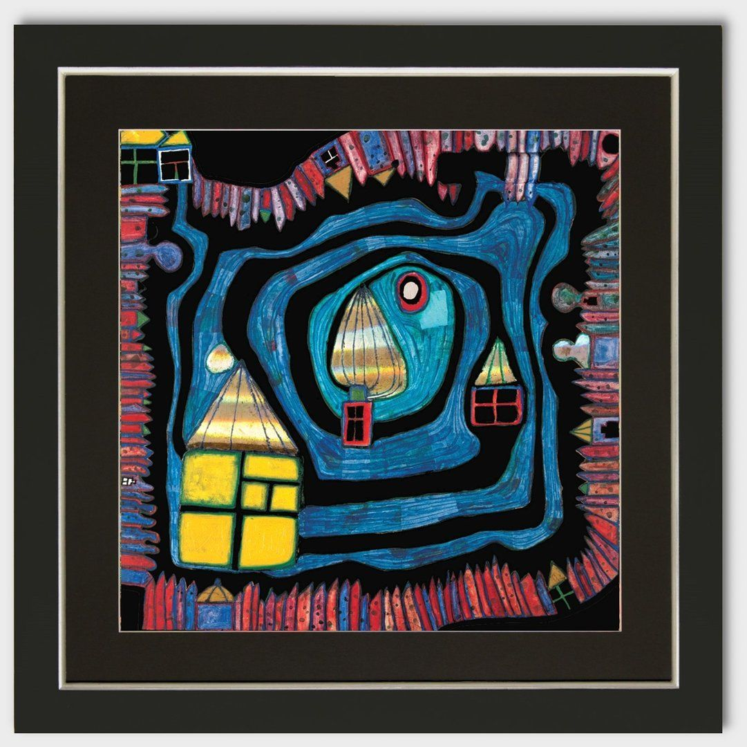 Bild Friedensreich Hundertwasser End Of The Waters mit Rahmen ...