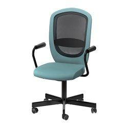 Schreibtischstuhl ikea pink  FLINTAN / NOMINELL Swivel chair with armrests - turquoise - IKEA ...