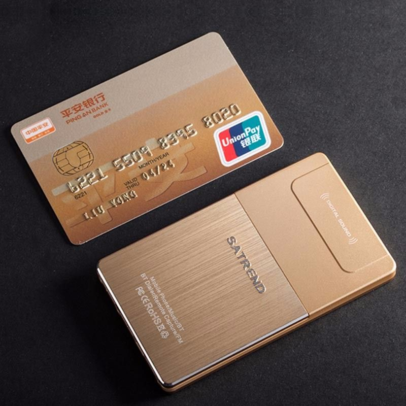 SATREND A10 Fuselagem de metal mini-cartão do telefone mini-fino GSM ...