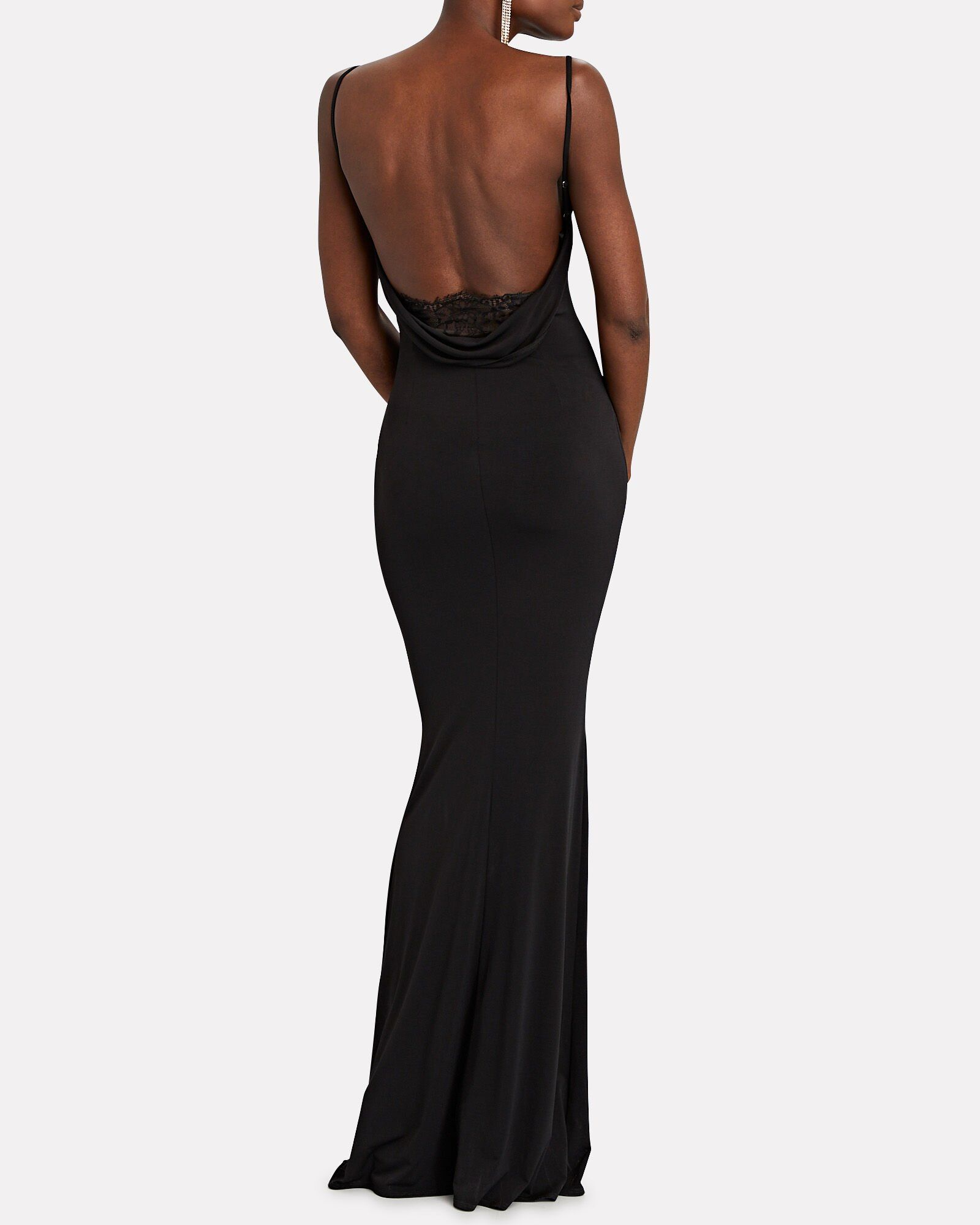 Surreal Open Back Gown In 2020 Open Back Gown Black Evening Gown Backless Gown