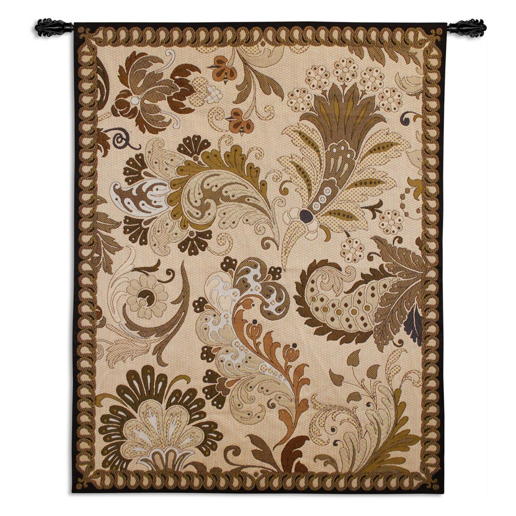 Fine Art Tapestries Paisley Applique Wall Tapestry  5854 Wh