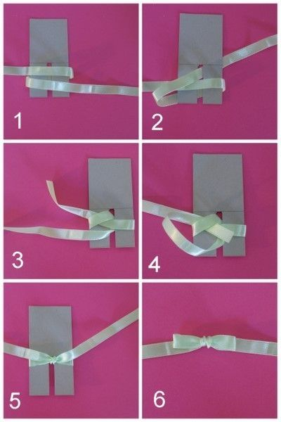 Technique pour faire un n ud en ruban ici le gabarit est - Comment faire un noeud avec un ruban ...