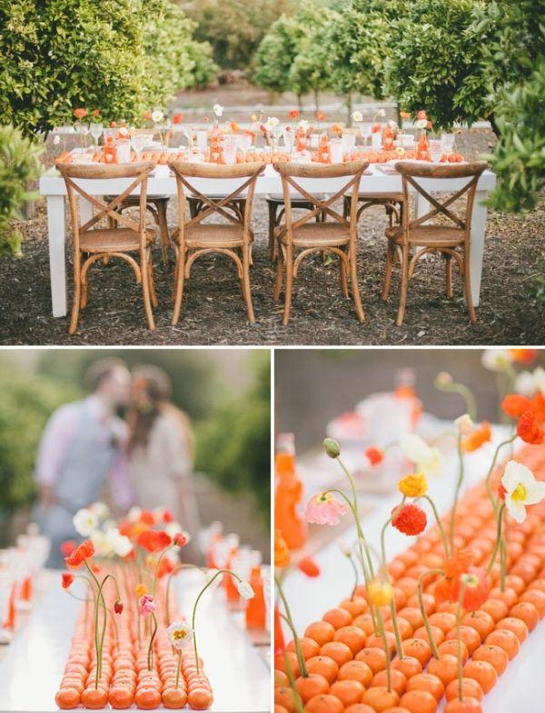 10. Orange Table Runner