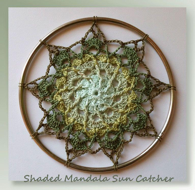 Shaded Mandala Sun Catcher | Crochet | Pinterest