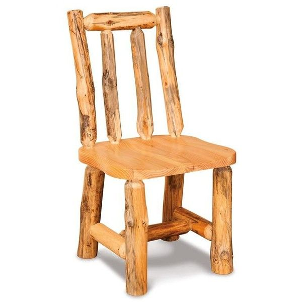 Amish Dining Room Chairs | Amish Rustic Pine Log Side Chair ($234 ...