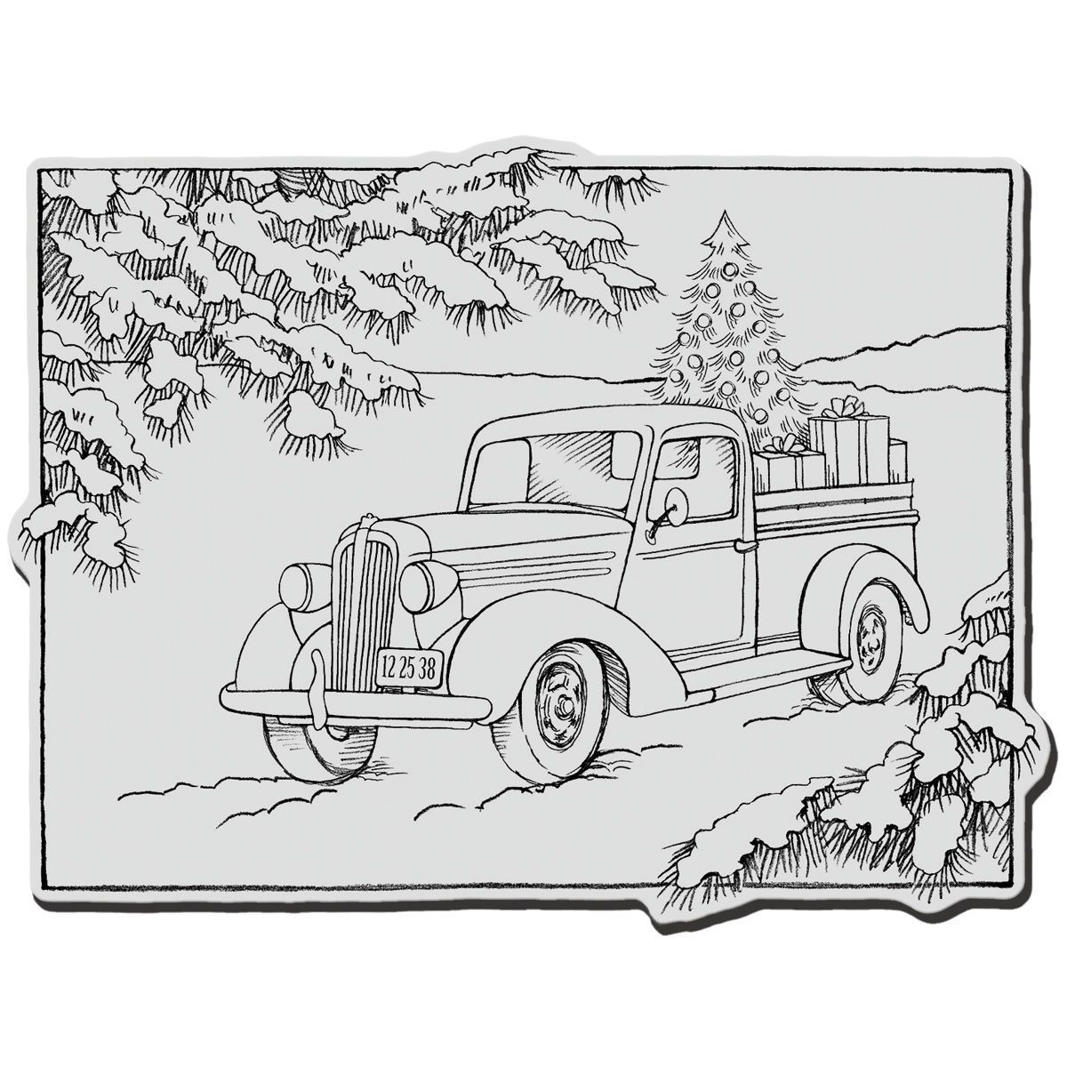Truck Gift cling Rubber Stamp  JOANN  Christmas coloring pages