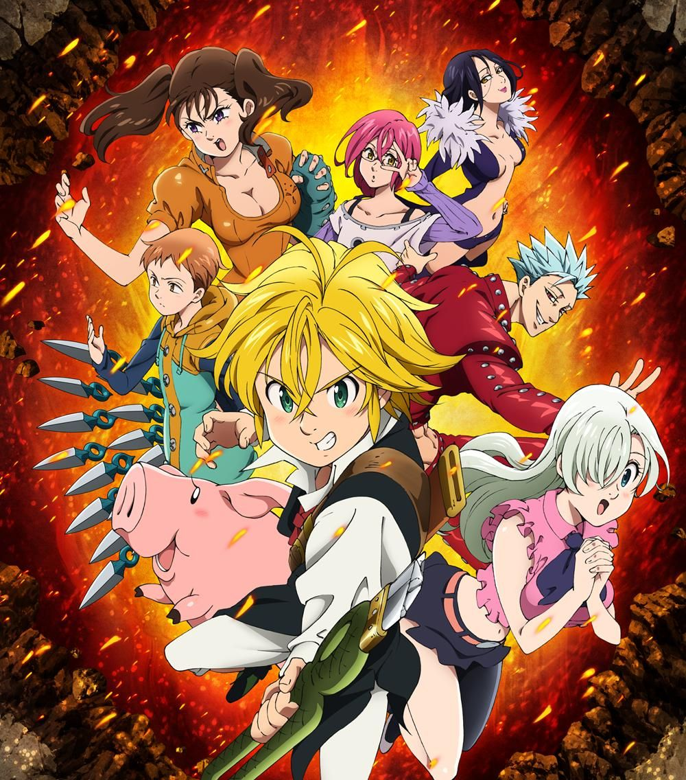 Imagem relacionada Seven deadly sins anime, Nanatsu e