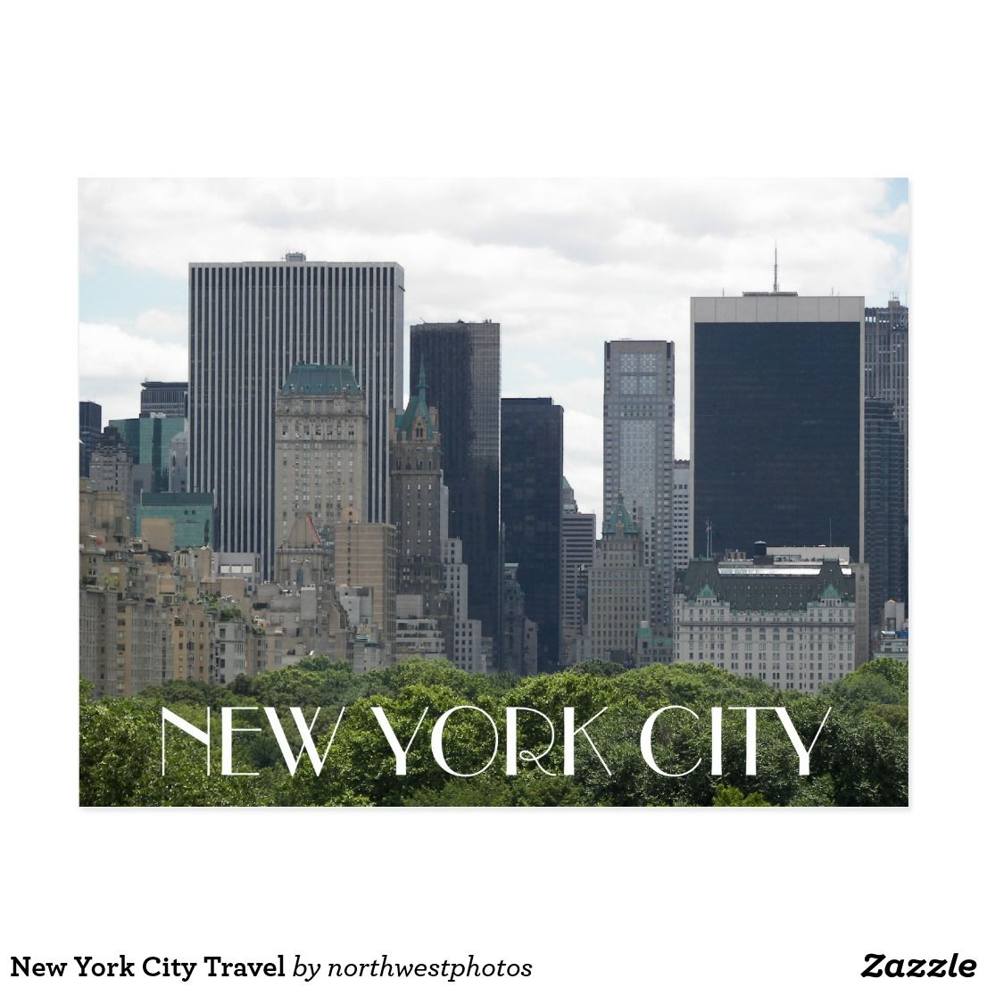 New York City Travel Postcard