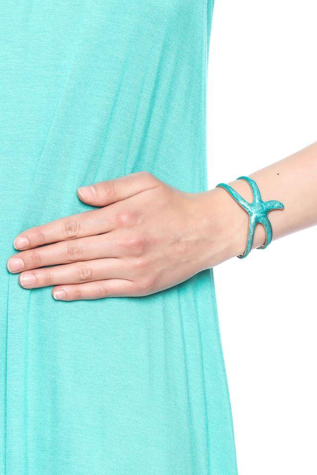 Turquoise Starfish Cuff