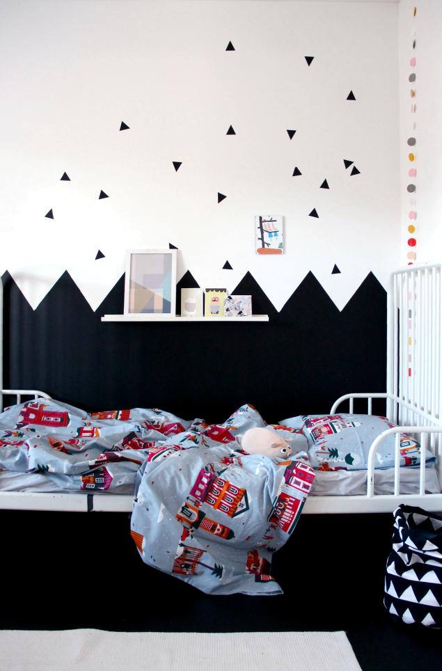 paredes habitacin de nio muros pintados en zigzag pintura infantil decoracin infantil